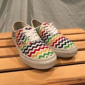 Vans Rainbow Chevron Pattern Shoes Size Women's 6